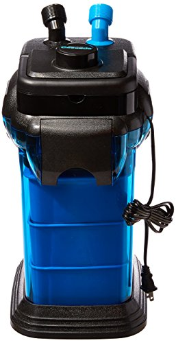 Penn Plax Cascade CCF3UL Canister Filter For Large Aquariums and Fish Tanks – Up To 100 Gallons, Filters 265 GPH,Blue