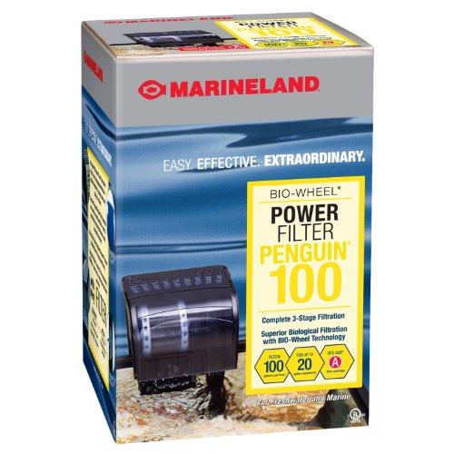 MarineLand Penguin 100 Power Filter, 10-20 Gallon, 100 GPH (PF0100B),Black
