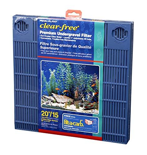 Penn-Plax Premium Under Gravel Filter System - for 20 Gallon Fish Tanks & Aquariums, Blue (CFU20)