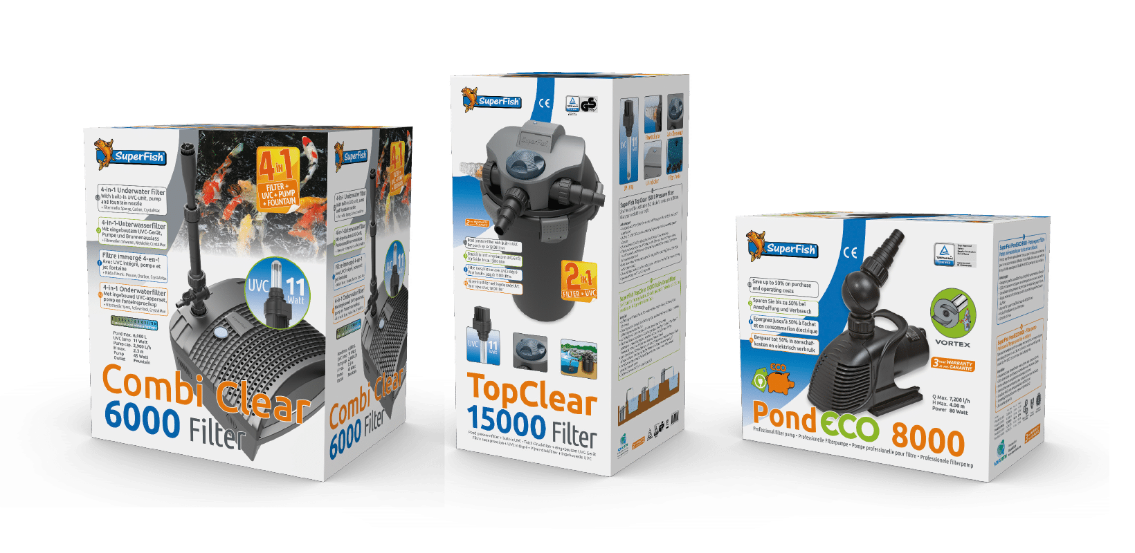 3 Main Types of Pond Filters